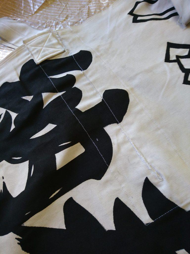 幟の修理、補修をした画像