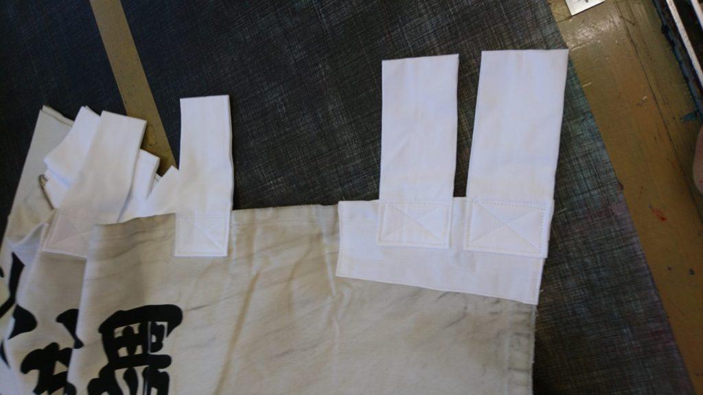 神社のぼり(お寺のぼり)の本体とチチの修理をした画像