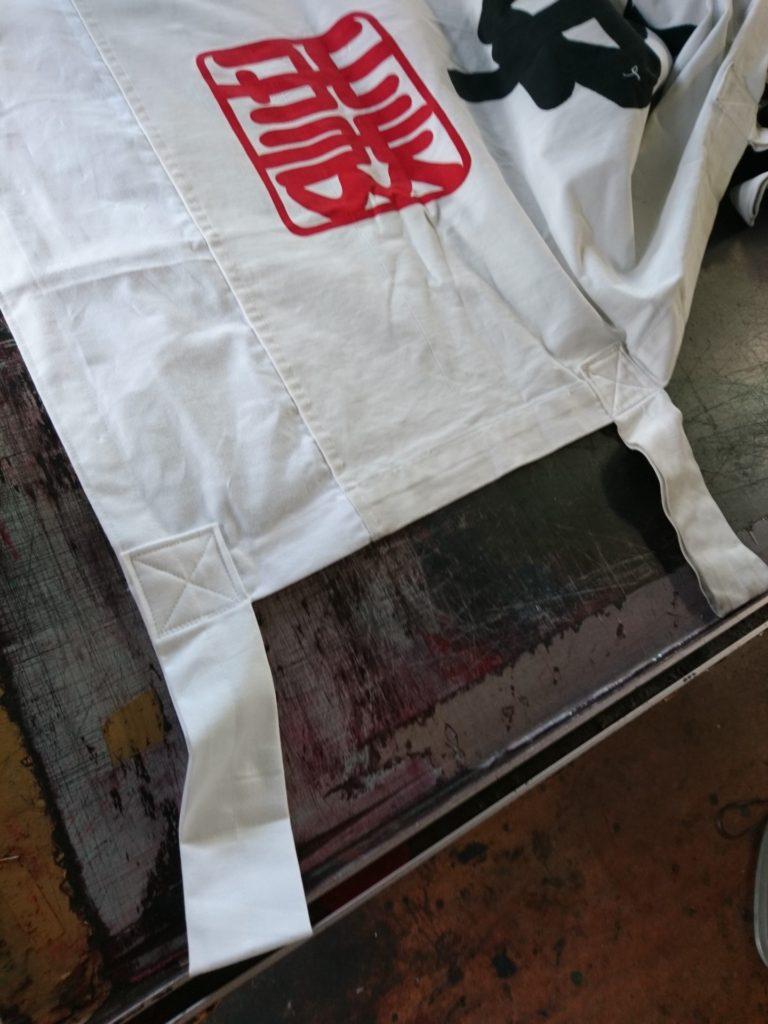 神社のぼりの修理画像