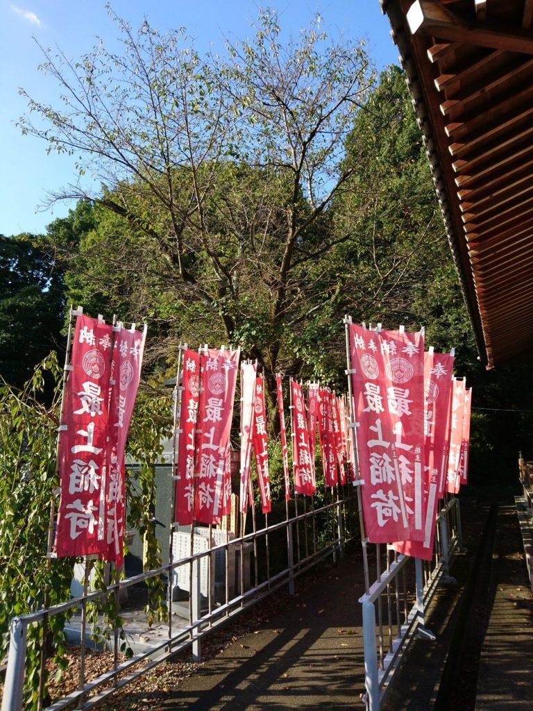 妙感寺さんの奉納のぼりの画像