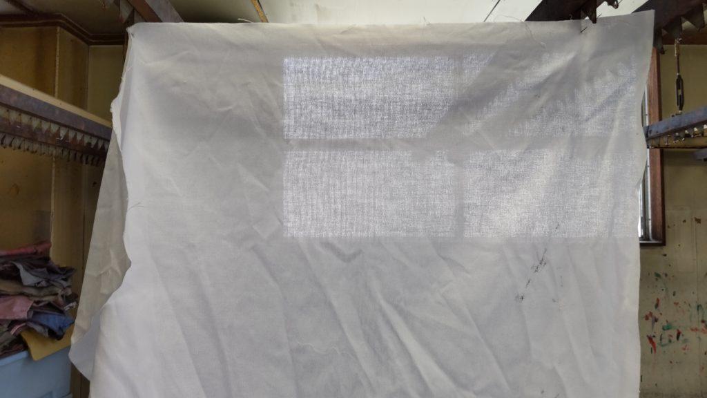 のれんの生地のバンテンの画像