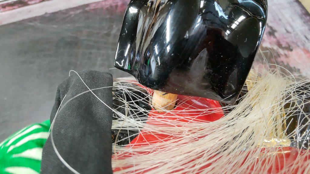 獅子頭の耳を修理した画像